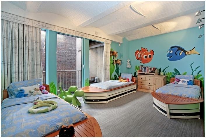 Vidám és tágas Nemo nyomában Disney szoba